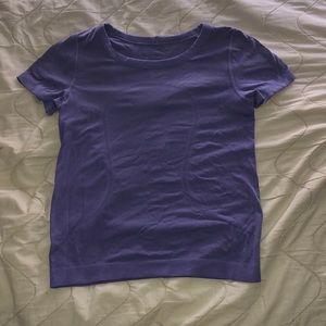 Purple lululemon swiftly tech short sleeve shirt